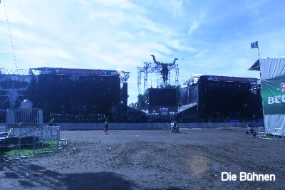 Black Stage (links) und die True Metal Stage